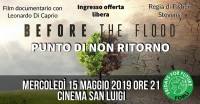 Proiezione speciale - BEFORE THE FLOOD - documentario